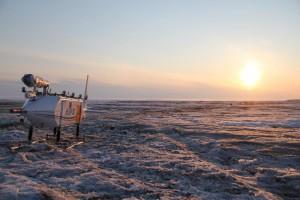 Helipod im Sonnenuntergang im April. Foto: K. Kohnert