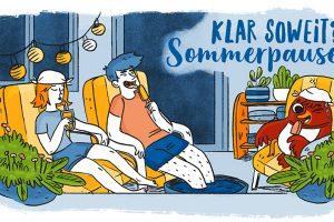 Helmholtz Wissenschaftscomic Sommer Sommerpause Ferien