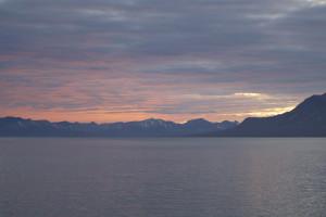 Erster Sonnenuntergang in NyAlesund, Foto: Verena Mohaupt