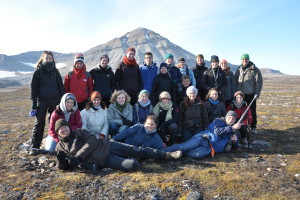 Studenten in der Arktis