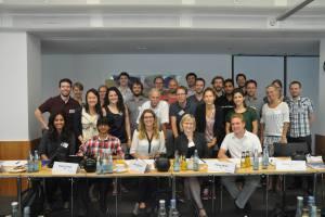 In Berlin the Helmholtz Juniors met Prof. Dr. Mlynek, president of the Helmholtz Association. © Sripriya Murthy