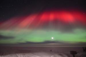 Polarlichter: Bunte Leuchterscheinungen über Neumayer